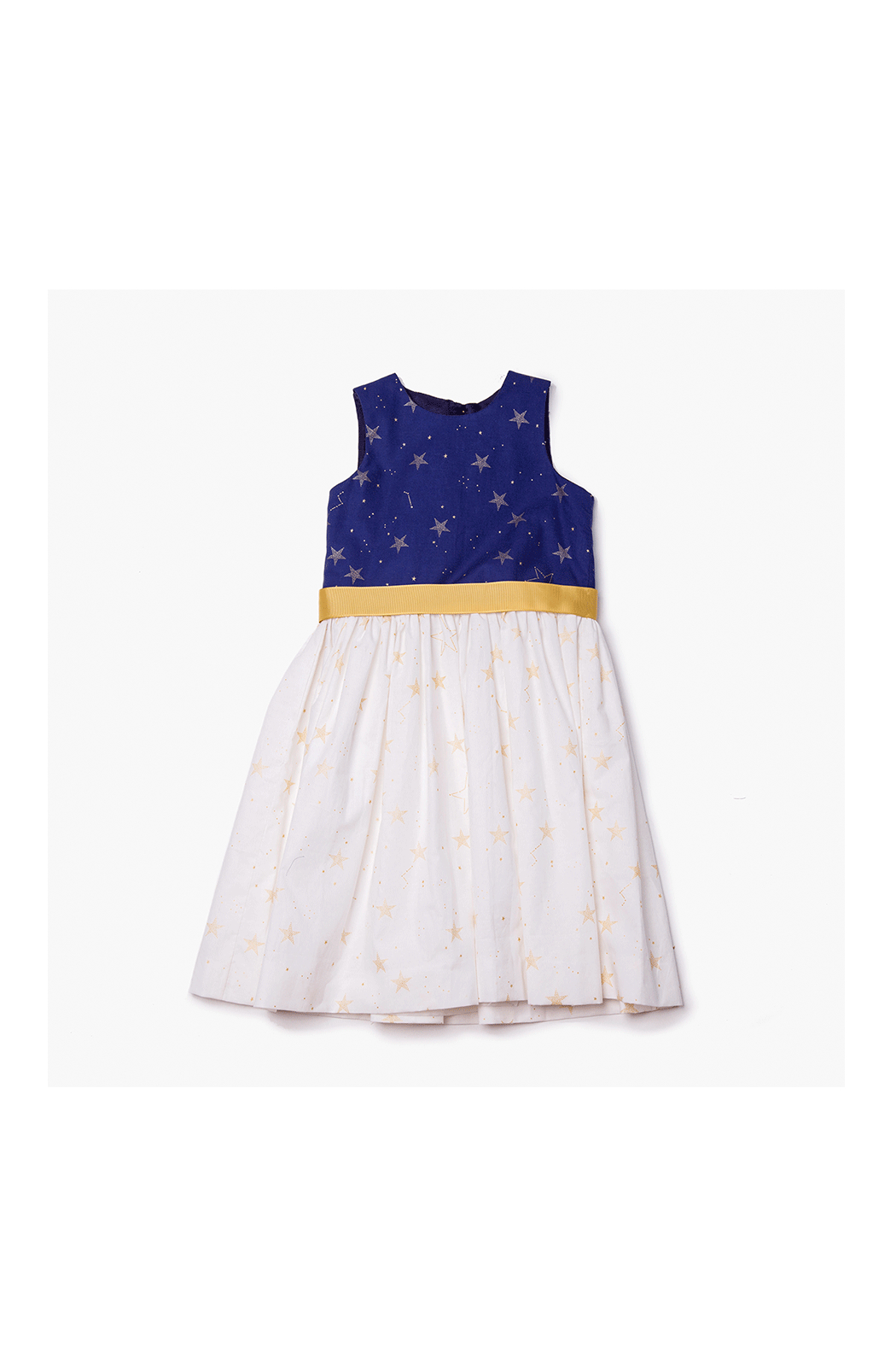 Mandy by Gema Amanda Dress Lucky Stars Navy and White - Front Full Image