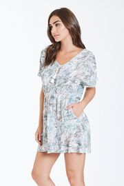 Dear John Denim Amanda Dress with tassel tie - Front full body