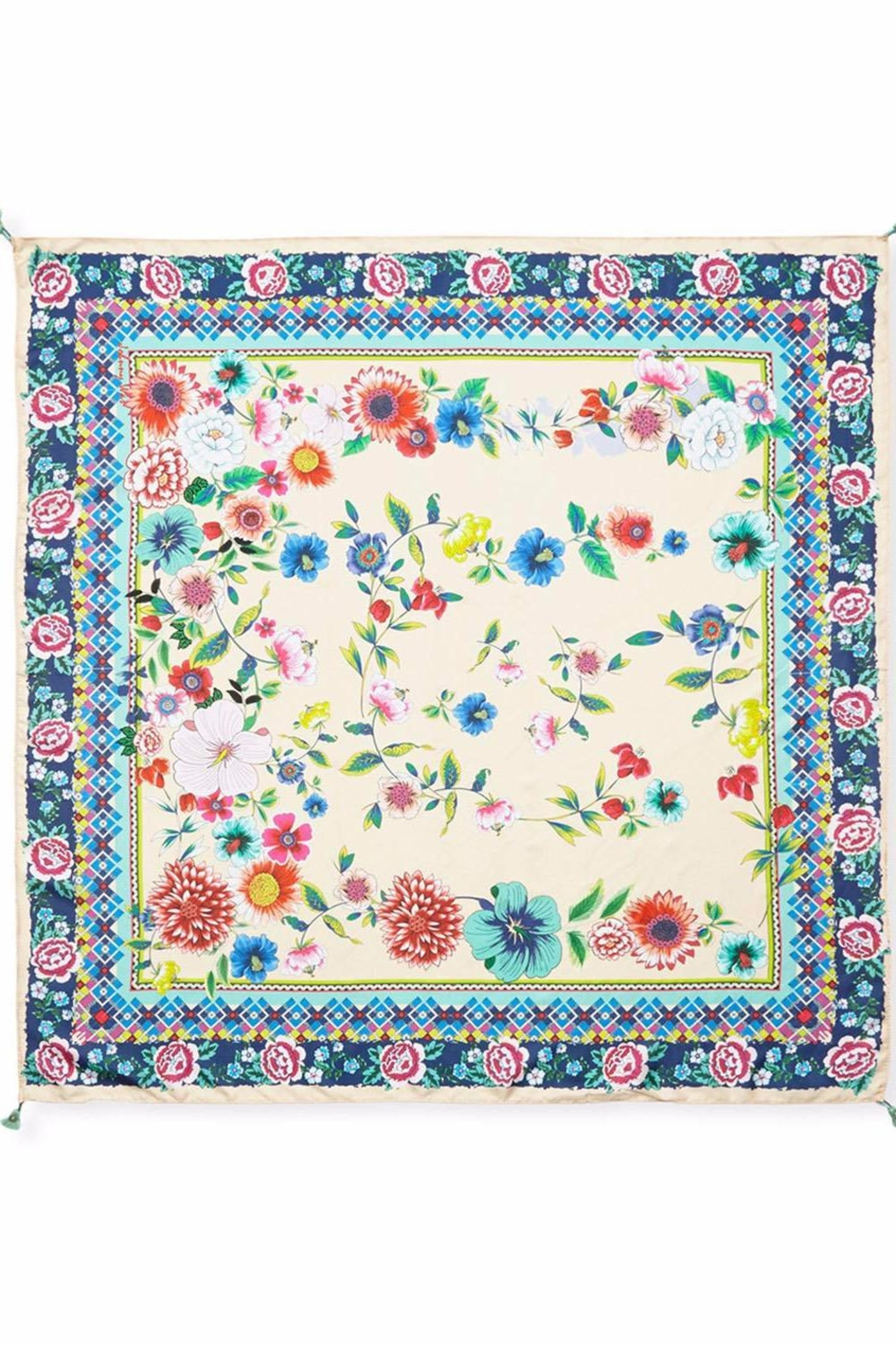 Johnny Was Amanda Floral-Print Scarf - Front Full Image