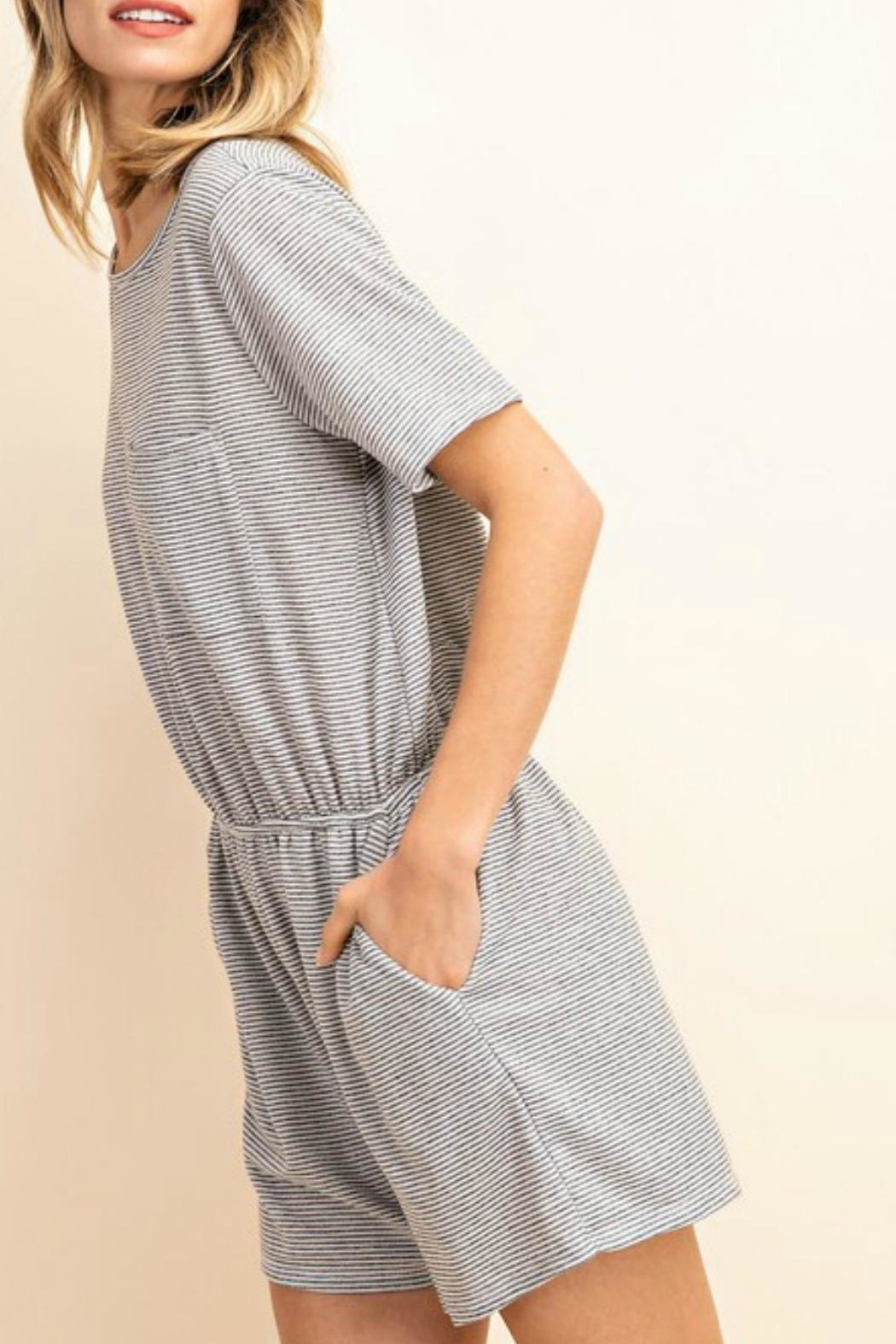 Mittoshop Amanda Striped Romper - Side Cropped Image