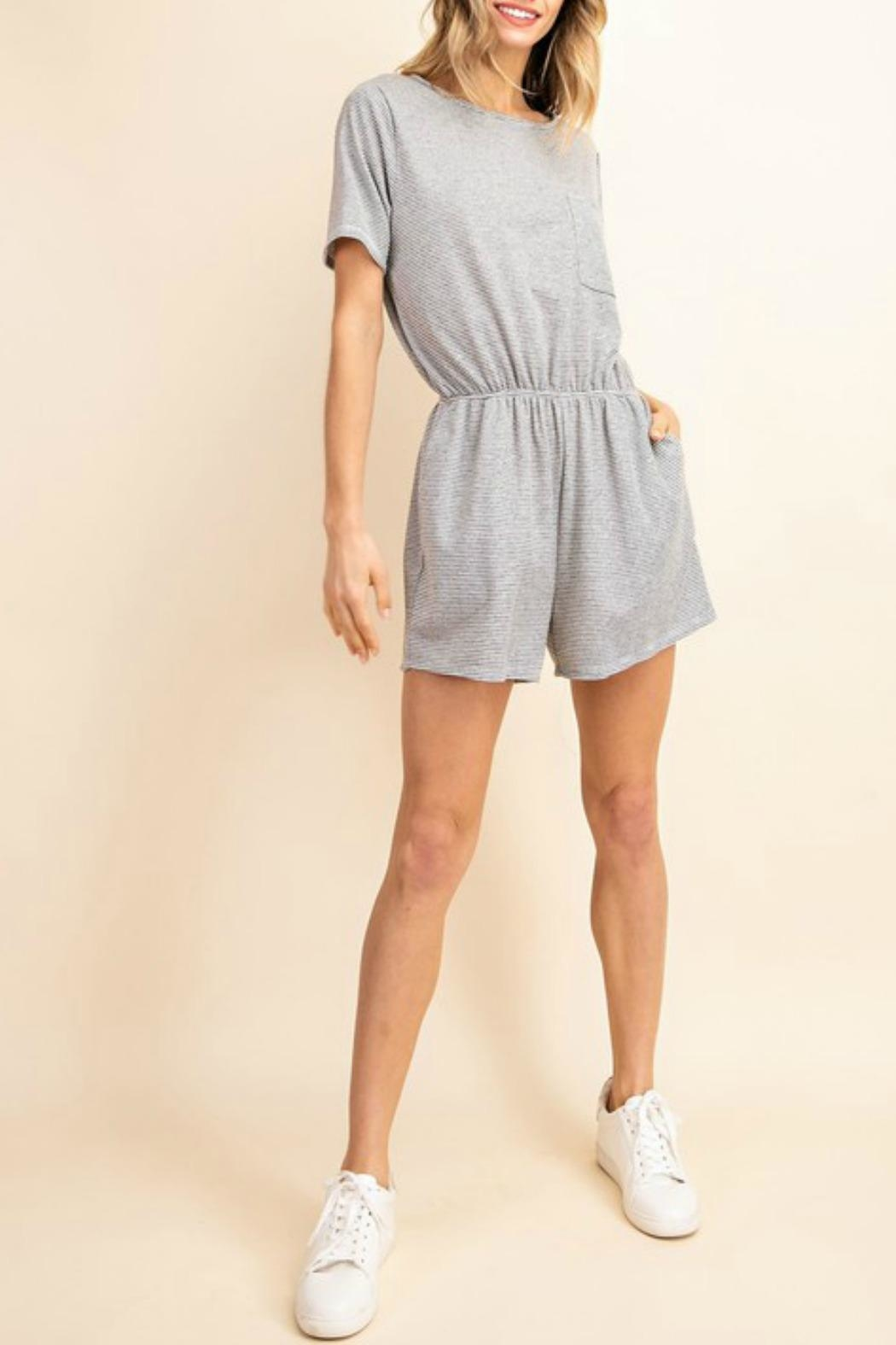 Mittoshop Amanda Striped Romper - Front Cropped Image