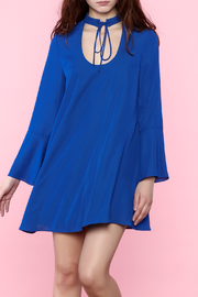 Amanda Uprichard Blue Flowy Long Sleeve Dress - Product Mini Image