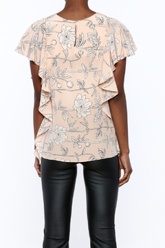 Amanda Uprichard Blush Floral Silk Top - Alternate List Image