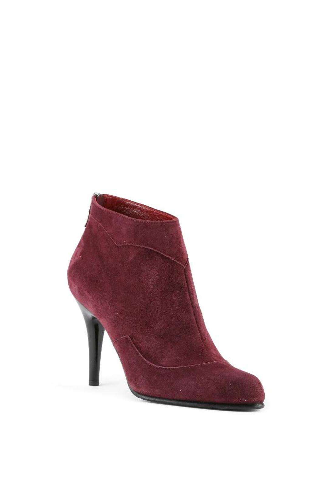 Amanda Jayne Burgundy Suede Bootie From Monmouthshire By Amanda Jayne Shoes Shoptiques