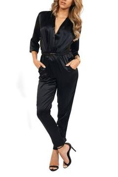 Shoptiques Product: 3/4 Sleeve Jumpsuit
