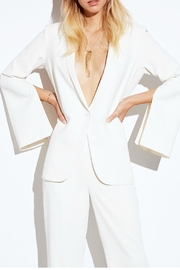 Amanda Uprichard Ivory Split-Sleeve Blazer - Product Mini Image
