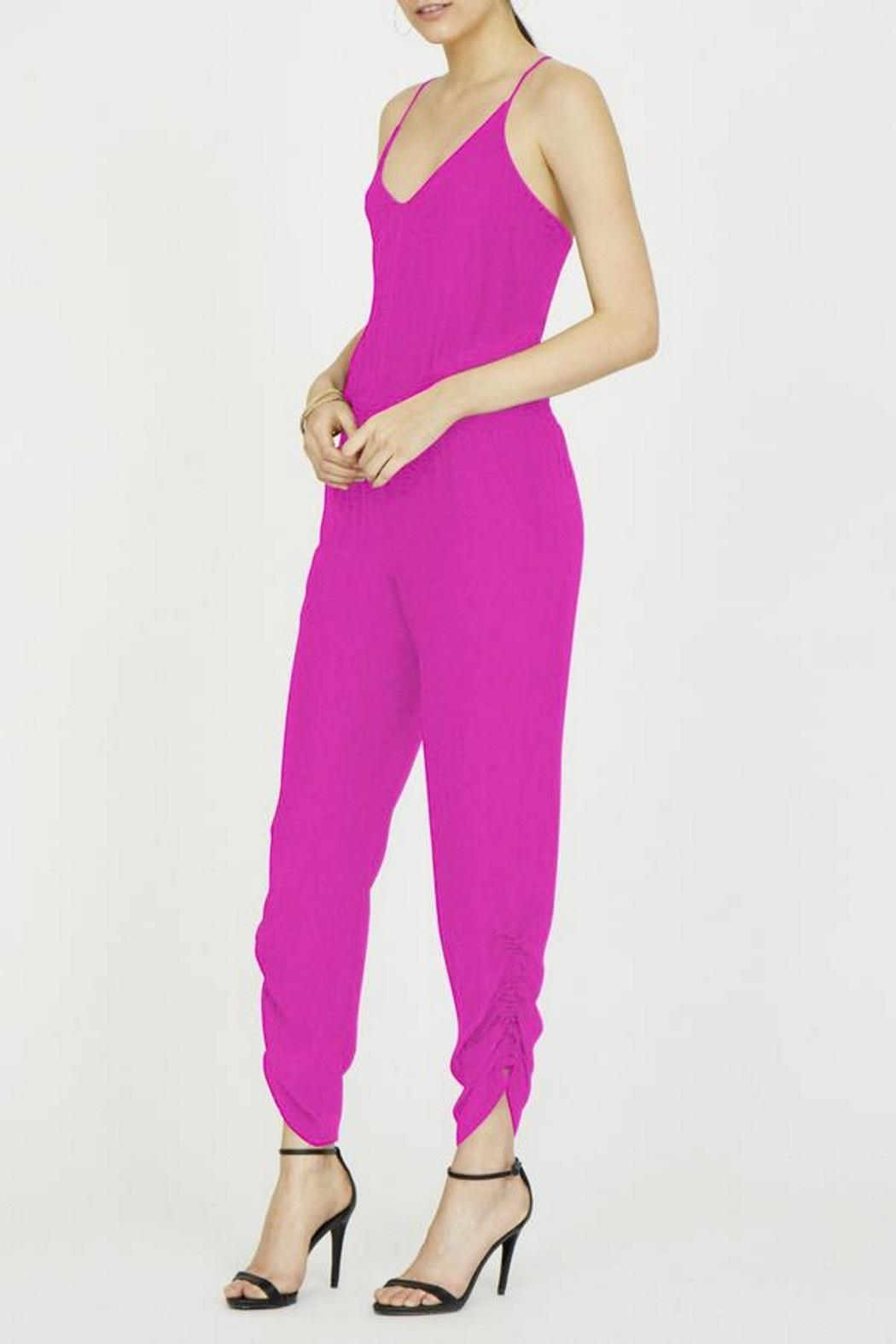 Amanda Uprichard Lowell Silk Jumpsuit - Front Full Image