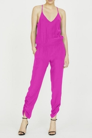 Amanda Uprichard Lowell Silk Jumpsuit - Front cropped
