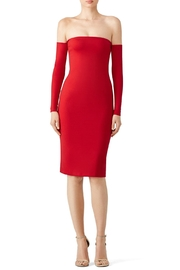 Amanda Uprichard Red Off Shoulder Dress - Product Mini Image
