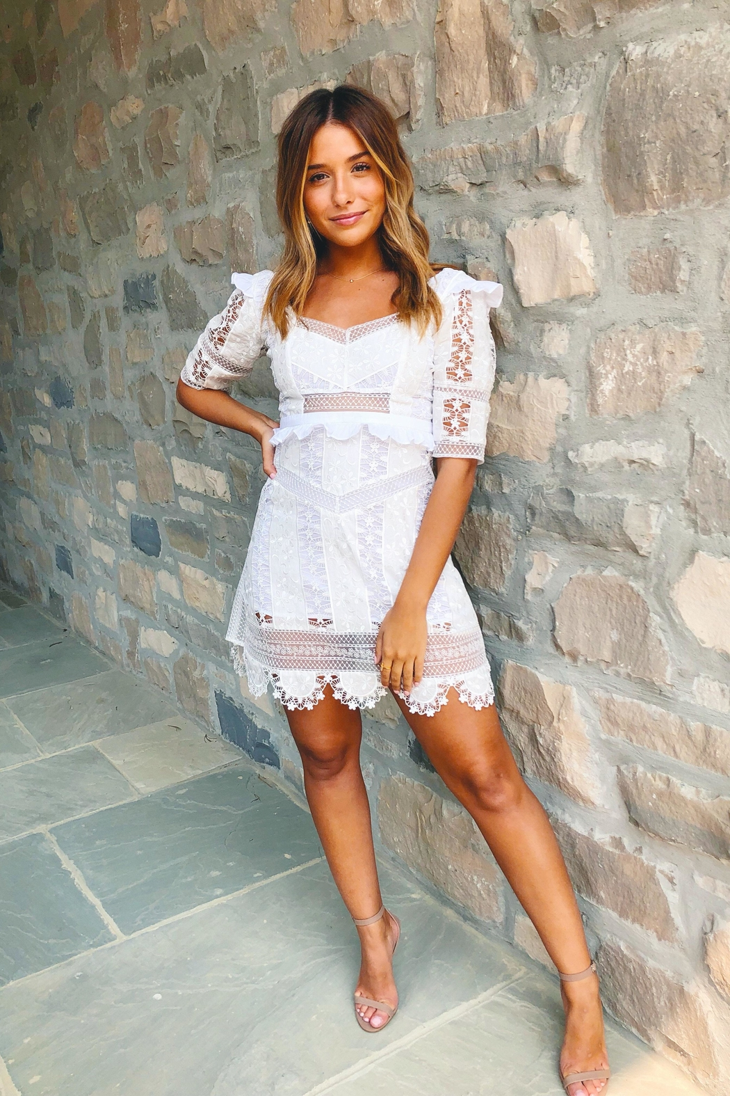 FOR LOVE & LEMONS Amandine Mini Dress - Main Image