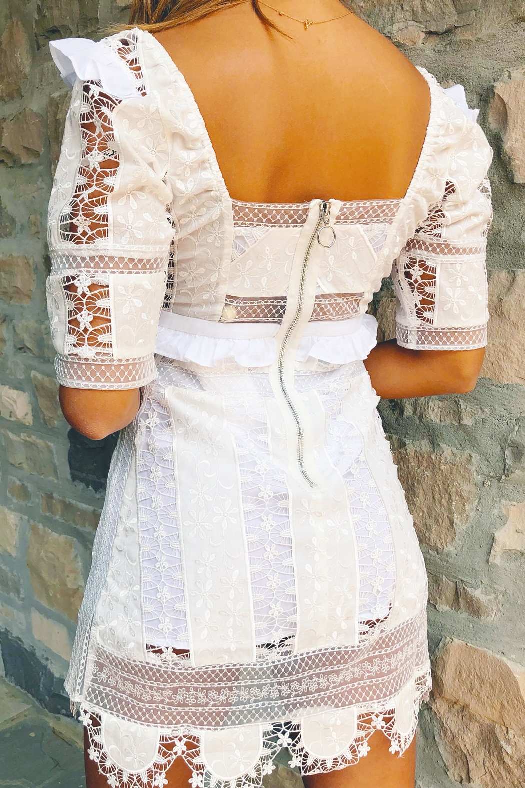 FOR LOVE & LEMONS Amandine Mini Dress - Side Cropped Image