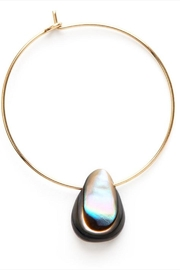 Amano Trading Abalone Teardrop Hoops - Product Mini Image