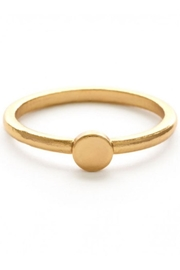 Amano Trading Gold Dot Ring - Front cropped