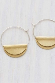 Amano Trading Gold Half-Disk Earrings - Front cropped