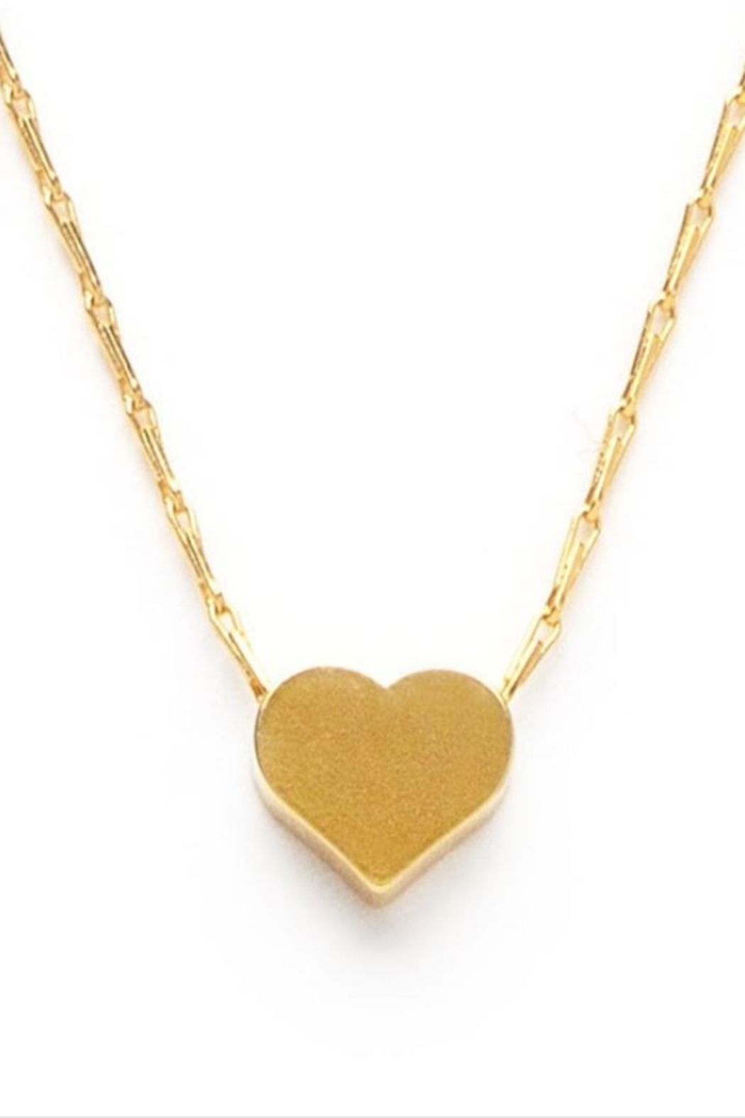 Amano Trading Gold Heart Necklace - Front Full Image