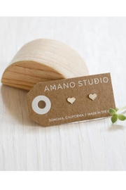 Amano Trading Small Heart Studs - Product Mini Image