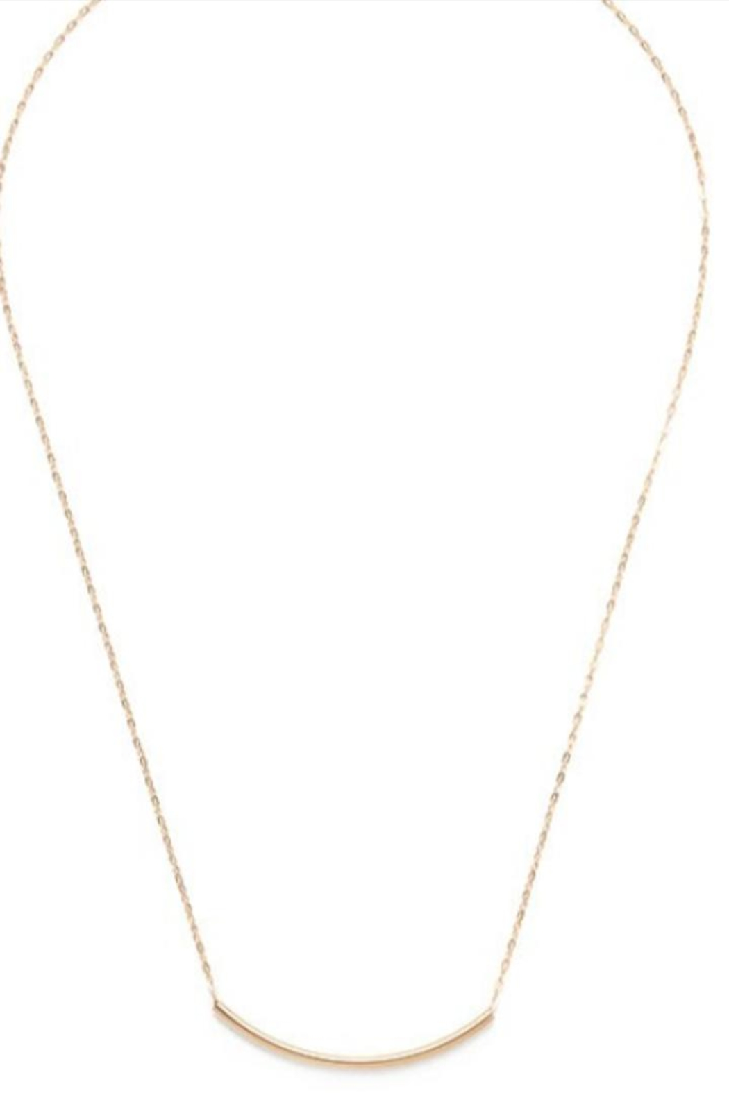 Amano Trading Gold Tube Necklace - Main Image