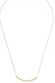 Amano Trading Gold Tube Necklace - Front cropped