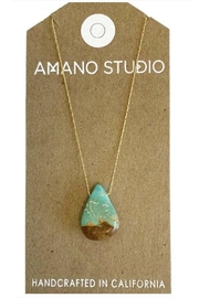Amano Trading Gold Turquoise Necklace - Product Mini Image