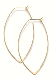 Amano Trading Gold V-Hoop Wire-Earrings - Product Mini Image