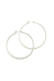 Amano Trading Large Hammered Hoops - Product Mini Image