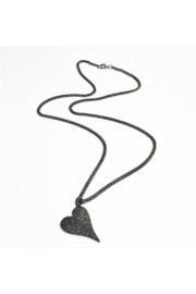 Love, Lisa Amazing Long Heart Necklace - Front cropped