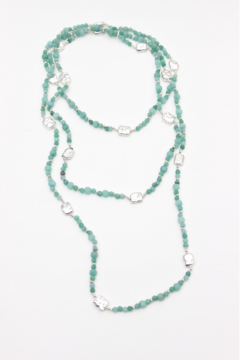 Bali Queen Amazonite Alloy Layering Necklace - Alternate List Image