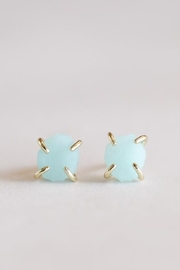 JaxKelly Amazonite Gemstone Prong Earrings - Product Mini Image