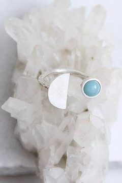 Shoptiques Product: Amazonite Half Moon Ring