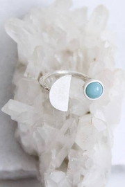 Mesa Blue Amazonite Half Moon Ring - Product Mini Image