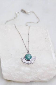 Shoptiques Product: Amazonite Sunburst Necklace