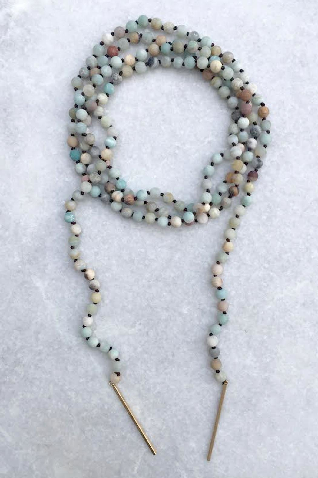 Wild Lilies Jewelry  Amazonite Wrap Necklace - Front Cropped Image