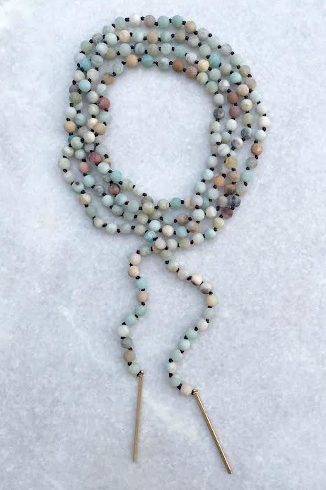 Wild Lilies Jewelry  Amazonite Wrap Necklace - Front Full Image