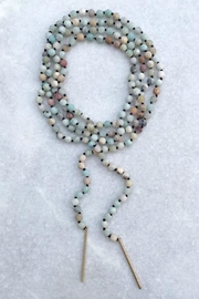 Wild Lilies Jewelry  Amazonite Wrap Necklace - Front full body