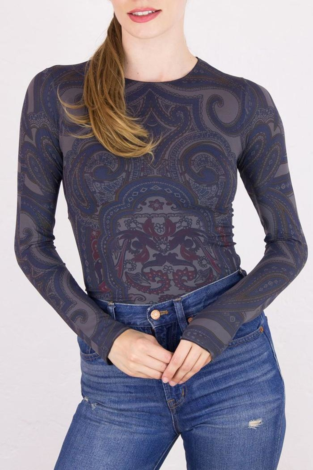 AMB Designs Luxury Printed Shirt - Front Cropped Image