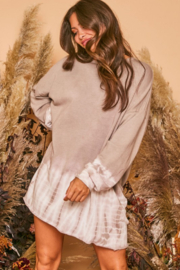 Fantastic Fawn Amber Ombré Sweatshirt Dress - Product Mini Image