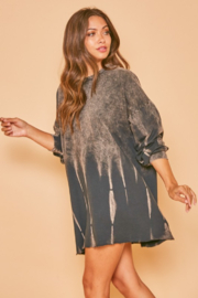 Fantastic Fawn Amber Bleached Ombré Sweatshirt Dress - Product Mini Image