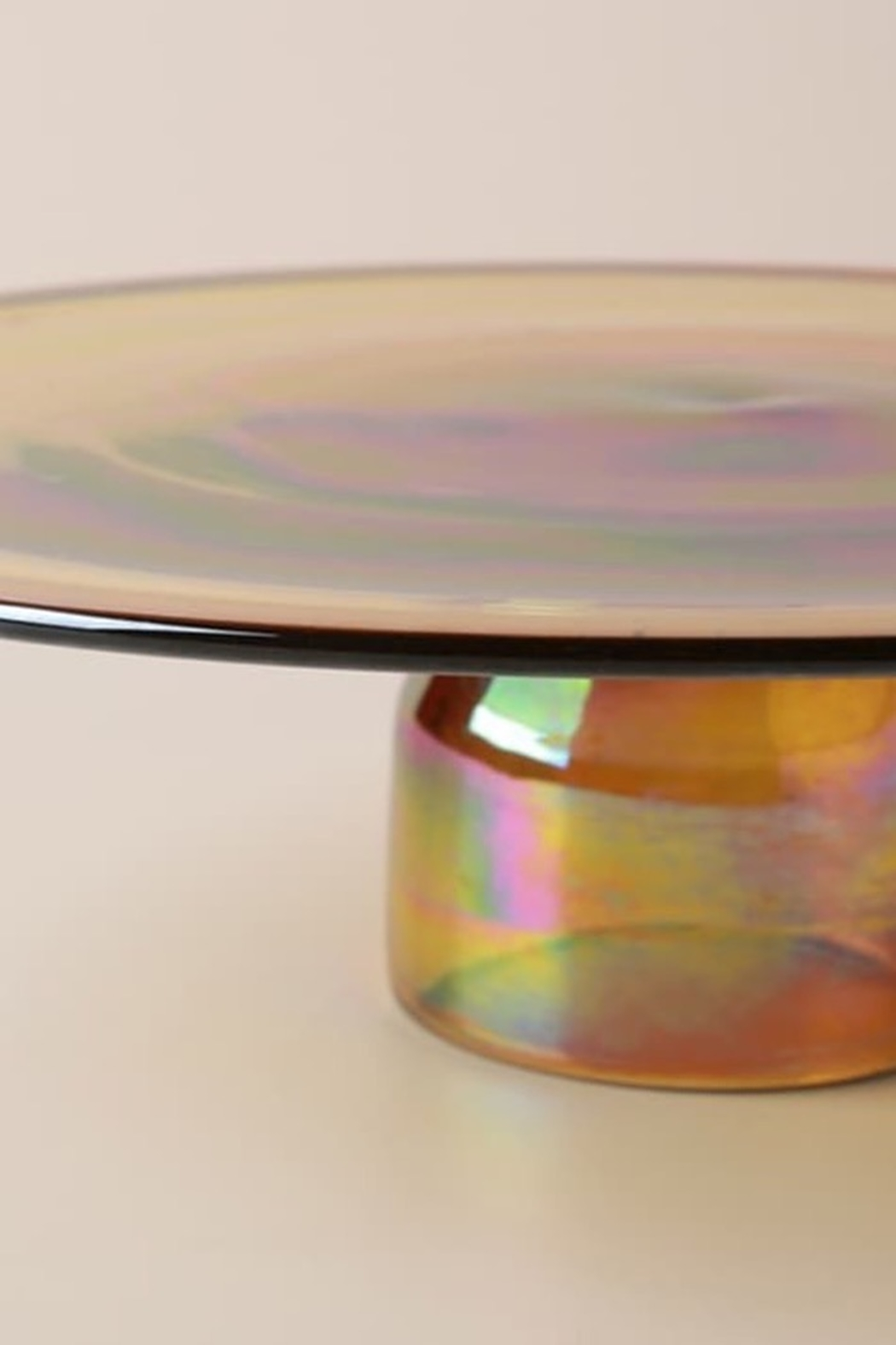 Anthropologie Amber Glass Cakestand - Front Full Image