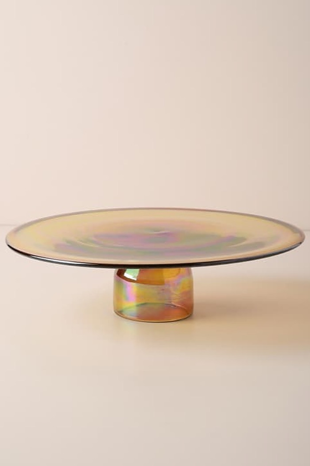 Anthropologie Amber Glass Cakestand - Side Cropped Image