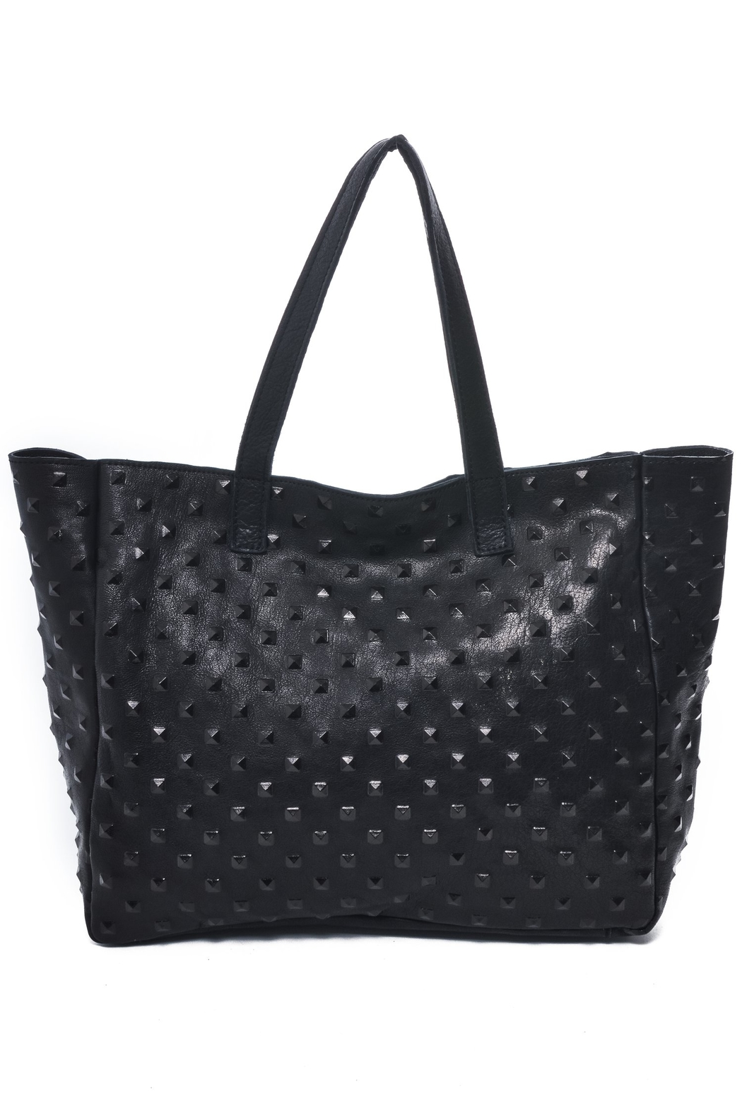 Carla Mancini Amber Studded Tote - Front Cropped Image