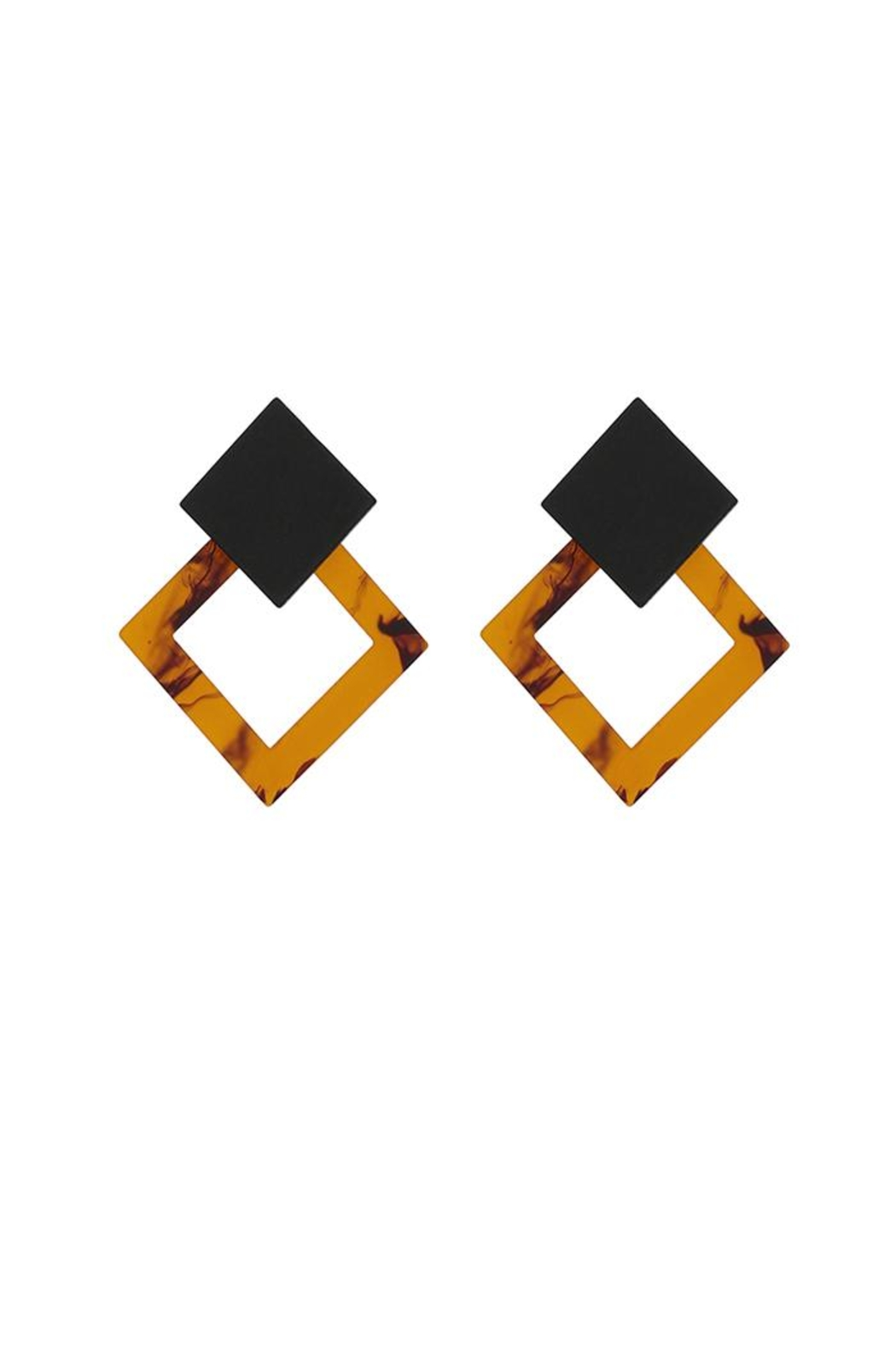 Madison Avenue Accessories Amber Honey Earring - Front Full Image