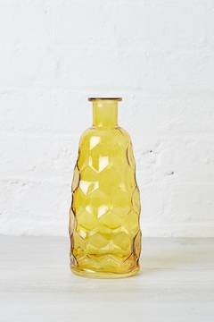 Bloomingville Amber Honeycomb Textured Glass Vase - Product List Image
