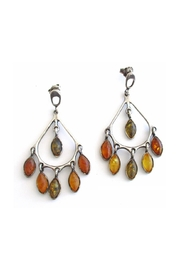 Malia Jewelry Amber Silver Earrings - Product Mini Image