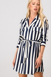 Trend Notes  AMBER STRIPE BUTTON DRESS - Product Mini Image