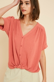 Wishlist AMBER TIE TOP - Front cropped