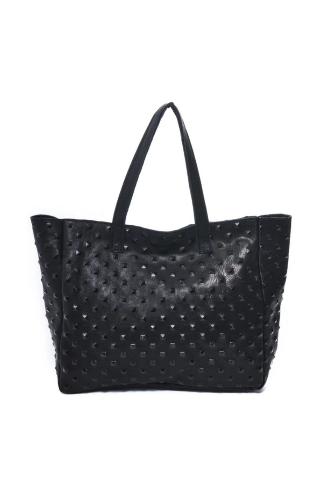 Carla Mancini Amber Tote Black Studded - Front Cropped Image