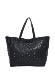 Carla Mancini Amber Tote Black Studded - Front cropped