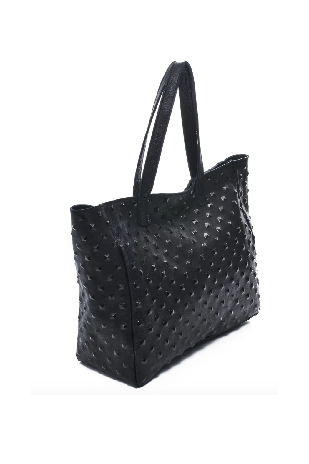 Carla Mancini Amber Tote Black Studded - Front Full Image
