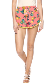ambiance apparel Coral Floral Short - Product Mini Image