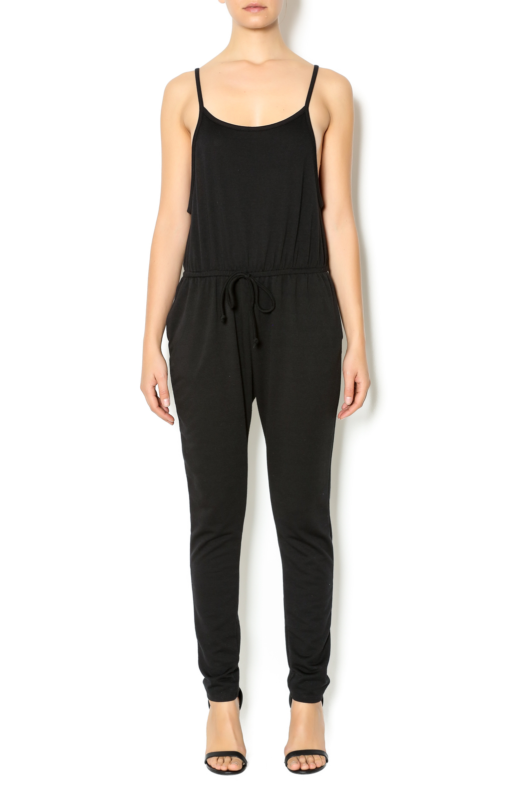 Ambiance Apparel Jersey Drawstring Jumpsuit From Pasadena By